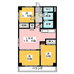 TOKI  NEXT[3階]の間取り