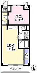 学園シティハイムA[3階]の間取り