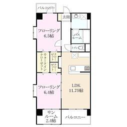 今宿西1丁目 新築マンション[6階]の間取り