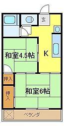 栄荘[2階]の間取り