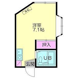 サンライズ西横浜[101号室号室]の間取り