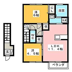 MIYABI[2階]の間取り