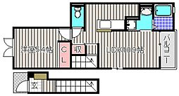 サウスレジデンスミヤビ[2階]の間取り