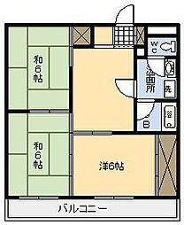 リバーサイドマンション[303号室]の間取り