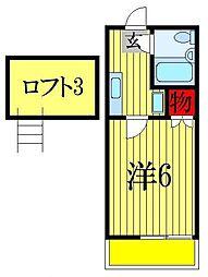 TOハイツ58[1階]の間取り
