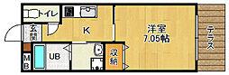 ラ・グロワール西宮北口[106号室]の間取り