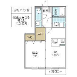 ヴィレッジヒル V TOYOSHIMA[102号室号室]の間取り