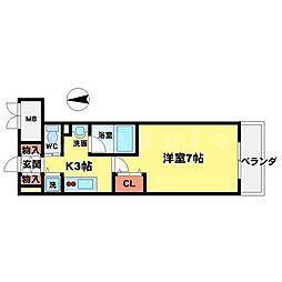 アーデン江坂[11階]の間取り