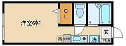 コーポサンフェローC[2階]の間取り