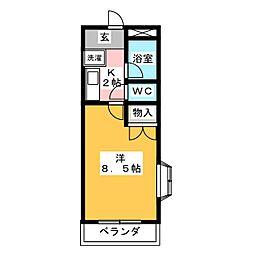リバーサイドT[3階]の間取り