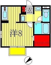 メゾン・ド・エヴァ[2階]の間取り