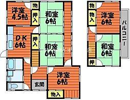 [一戸建] 岡山県倉敷市八王寺町丁目なし の賃貸【/】の間取り