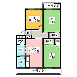 グリーンパレス[1階]の間取り