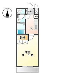 大阪府堺市美原区平尾の賃貸マンションの間取り