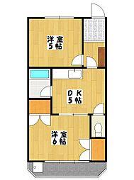 千葉県船橋市本中山3の賃貸マンションの間取り