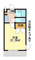 兵庫県神戸市西区北別府2丁目の賃貸マンションの間取り