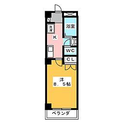 エスト岡崎[4階]の間取り