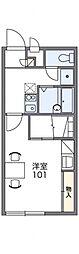 レオパレスOYUMI Ⅱ[1階]の間取り