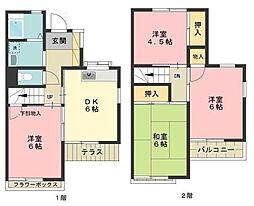 [テラスハウス] 東京都西東京市北町2丁目 の賃貸【/】の間取り