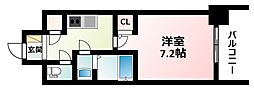 Osaka Metro御堂筋線 江坂駅 徒歩6分の賃貸マンション 4階1Kの間取り