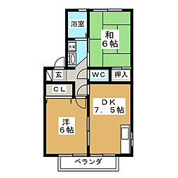 セジュールY・O・B[1階]の間取り