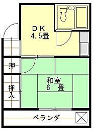 三番町村松ビル[4階]の間取り
