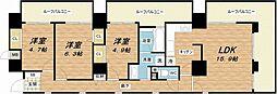プレサンス東本町[10階]の間取り