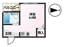 フクイハイツ[2階]の間取り
