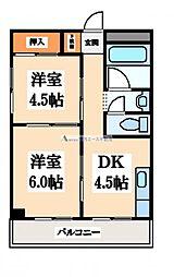 松村マンション[2階]の間取り