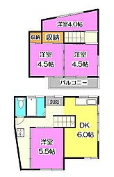 [一戸建] 東京都清瀬市野塩5丁目 の賃貸【/】の間取り