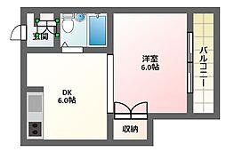 京谷マンション[2階]の間取り