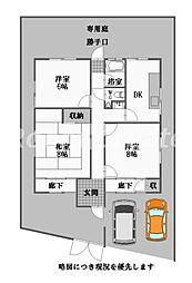 [一戸建] 徳島県徳島市論田町新開 の賃貸【/】の間取り