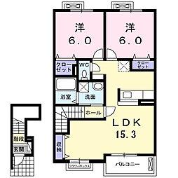 ボローニャ3[2階]の間取り