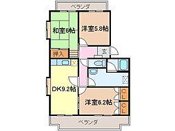 静岡県富士市松本の賃貸マンションの間取り
