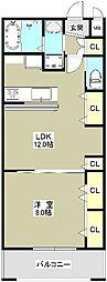 RESERVE LAKETOWN RESIDENCE 2階1LDKの間取り