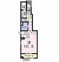 エクラXIII[0106号室]の間取り