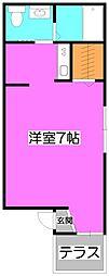 埼玉県富士見市関沢2丁目の賃貸アパートの間取り