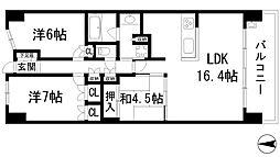 ローレルコート宝塚武庫川町[9階]の間取り