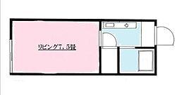 アゼル白糸台[202号室]の間取り