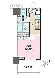 ザ・パークハウス浅草橋タワーレジデンス 3階1Kの間取り