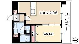 ウィステリアパーク 4階1LDKの間取り