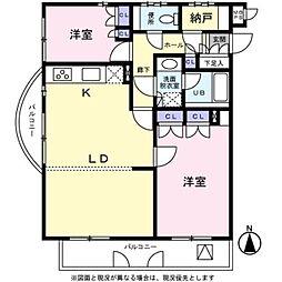 埼玉県さいたま市浦和区神明1丁目の賃貸マンションの間取り