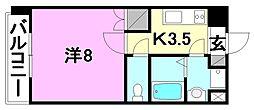 駅前マンション牛渕[205 号室号室]の間取り