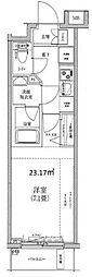 HY's Confront 横濱BAY 2階1Kの間取り