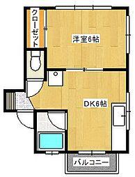 クレストハイム鎌ヶ谷大仏[2階]の間取り