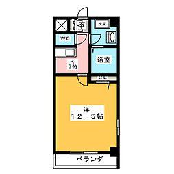フラット12[9階]の間取り