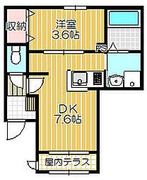 メゾン フローレ[1階]の間取り