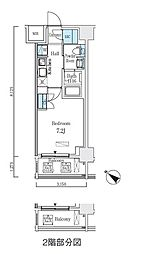 都営浅草線 人形町駅 徒歩9分の賃貸マンション 9階1Kの間取り