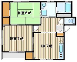 東京都練馬区西大泉3の賃貸アパートの間取り