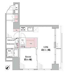 東京メトロ日比谷線 入谷駅 徒歩4分の賃貸マンション 6階1LDKの間取り